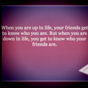 Find out who your friends are