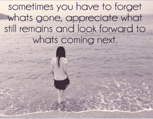 All About Moving Forward (Quote)