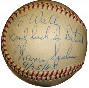 Warren Spahn Autograph