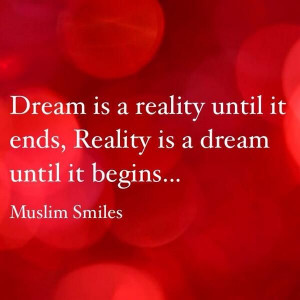 Quote about reality and dream