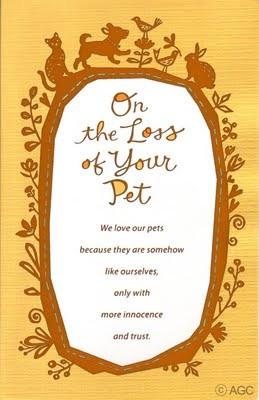 Loss of pet design. Sweet and sentimental.