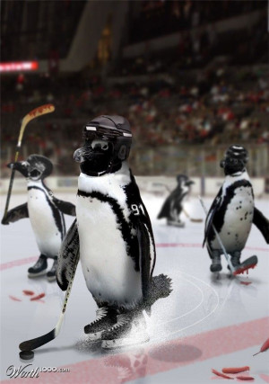 Penguins vs. Red Wings Stanley Cup Playoffs... found this kinda funny ...