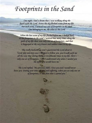 Footprints In The Sand Quotes
