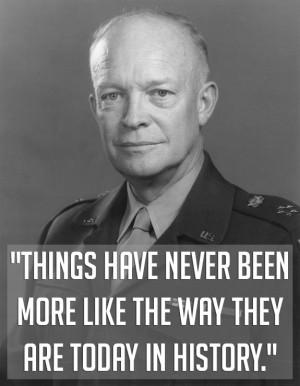 President Dwight D. Eisenhower showing his deep understanding of the ...