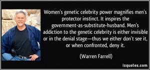 Women's genetic celebrity power magnifies men's protector instinct. It ...