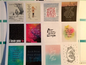 Quotes and Sayings for your Erin Condren Planners, Calendars, Midori's