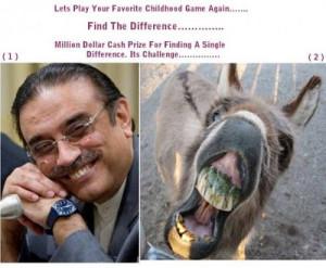 Funny Photos of President Asif Ali Zardari.