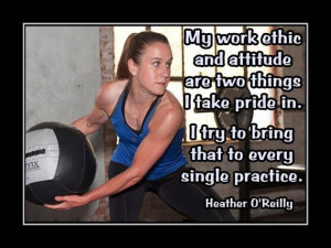 Soccer Poster Heather O'Reilly Photo Quote Wall Art Print 5x7- 11x14 ...