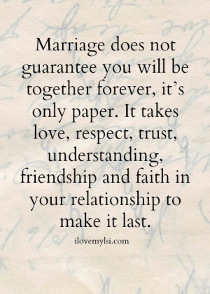 Making Your Marriage and Relationship Work