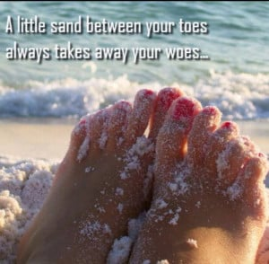 ... the beach and getting sand between my toes.. #beach #quotes #walking