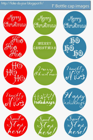Free Christmas quotes bottle cap images