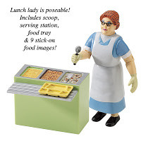 lunch lady action figure we all remember the lunch lady from the ...