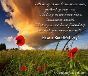 Have A Beautiful Day Quotes Have a beautiful day quote