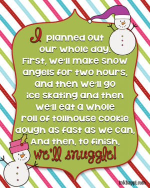 It's a plan! Christmas movie quotes. Several free printables!