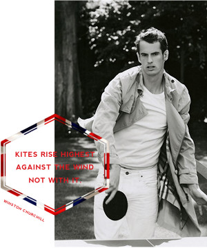 Photo of Andy Murray by Mario Testino for Vogue