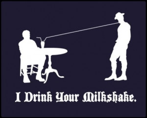 funny, milkshake, no country for old men, quote, quotes, silhouette ...