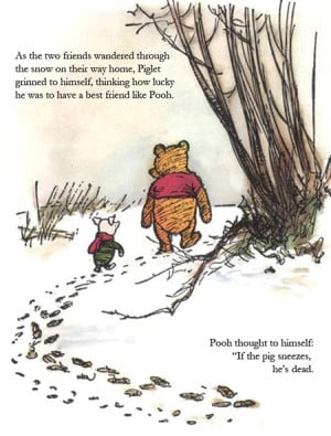 pooh and piglet weathering swine flu