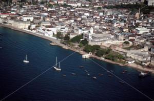 An aerial view of Zanzibar Stone Town Tanzania