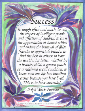 What Is Success Ralph Waldo Emerson