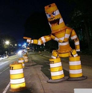 Proper Road Construction Barrel Placement For Maximum Effect