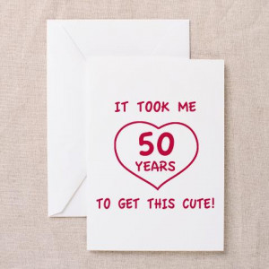 cafepress.com50th birthday gifts woman Greeting Card by tshirts_gifts