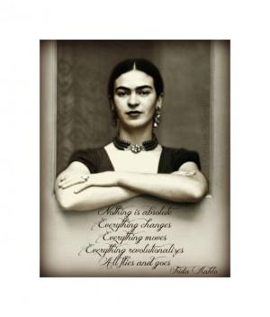 Frida Kahlo Art Print Quote Photomontage 8x10 by ARTDECADENCE, $23.00
