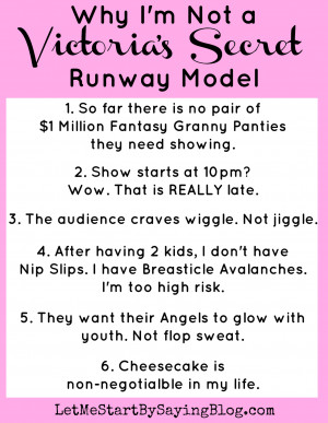 Why I'm Not a Victoria's Secret Runway Model