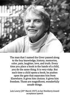 Lois Lowry quote. Books are everything.