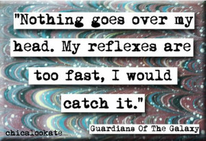 Guardians of the Galaxy Reflexes Quote Refrigerator Magnet or Pocket ...