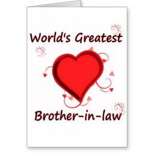 World's Greatest brother-in-law Greeting Cards