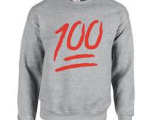 100, Emoji, Crewnecks, Sweaters, Sw eatshirts, Hip, Hop, Rap, Urban ...