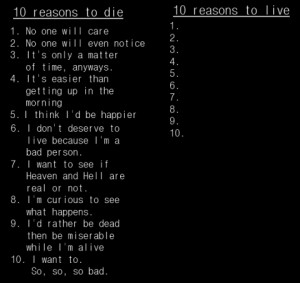 Suicide and Self Harm Quotes