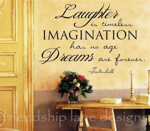 TINKERBELL QUOTE Dreams are forever VINYL wall decal/words/lettering