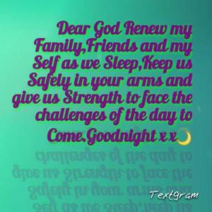 Good Night Prayer Quotes Goodnight dear friend