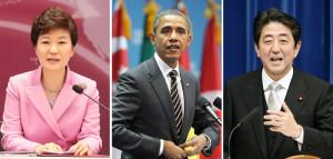 South Korean President Park Geun hye will hold three way talks with U
