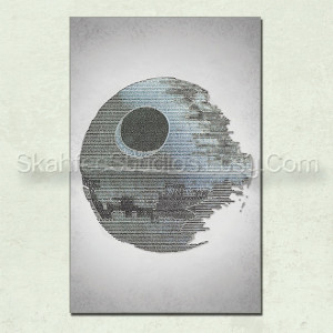 ... of the Jedi Death Star Word Art- Star Wars Poster, Star Wars Quotes