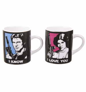 ... about Official Boxed Han Solo And Princess Leia Set Of 2 Mini Mugs