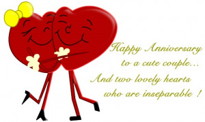 Cute Couple Happy Anniversary Quotes