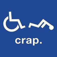 Crap Wheelchair Handicap Funny T SHIRT Disabled Rude Offensive Humor ...