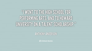went to the High School for Performing Arts, and to Howard ...