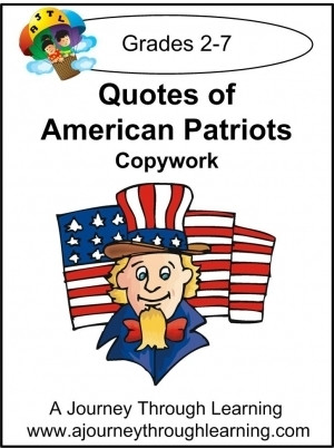 Quotes of Patriotic Americans Copywork