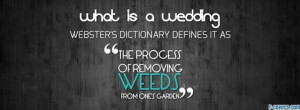 funny wedding quote facebook cover for timeline