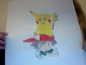 Pokémon Ash and Pikachu