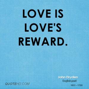 John Dryden Love Quotes