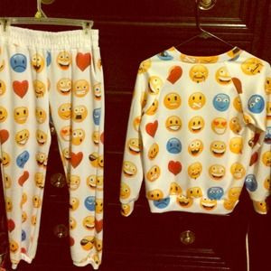Fake Emoji Joggers