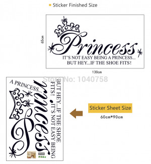 Princess Wall Decals Quotes and Sayings Princess Wall Stickers Vinyl ...