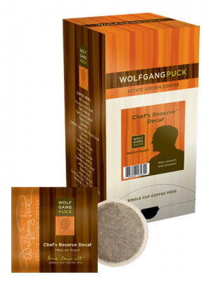 Wolfgang Puck Chef's Reserve Decaf Coffee Pods
