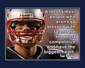 Tom Brady Patriots Photo Quote Post er Wall Art Print 5x7