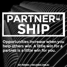 The spirit of Partnership needs to be infused in every interaction ...