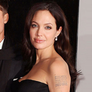 Celebrity Tattoos Quotes of Angelina Jolie Female Celebrity Tattoos ...